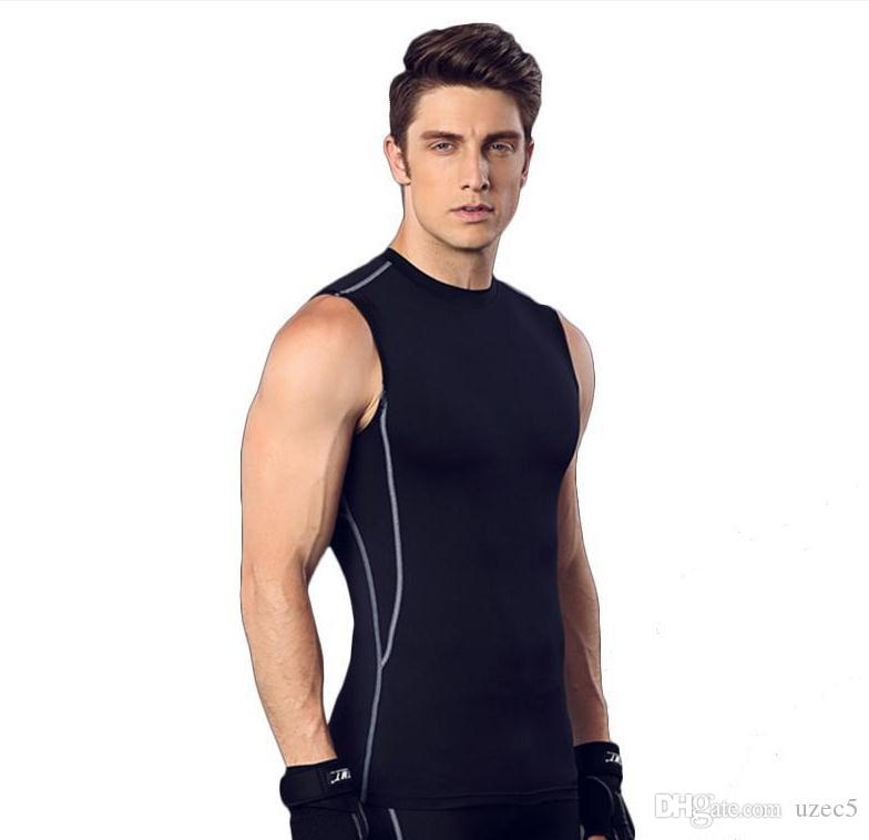 Fitness suits men 's basketball running suits elastic compression fast - drying sports tights