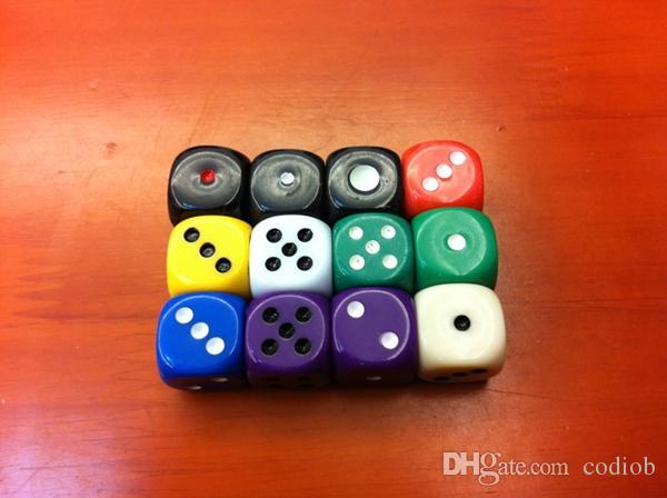 16 mm 6 Sided Dice Arrondis ordinaire Dices routine bosons acrylique coloré KTV Bar Discothèque Drinking Game Dice Bon Prix de haute qualité # R1