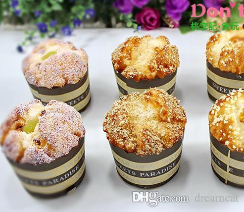2018 Squishy Toast 7.5cm Paper Cupcake Food Home Decor Squishies  Environmentally Materials Fake Bread Wholesale From Dreamcat, $31.16 |  Dhgate.Com