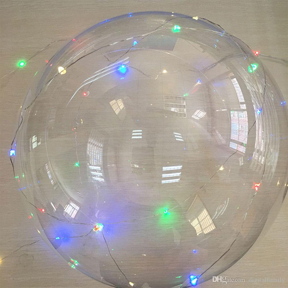 """bobo ball wave led string 5 meter 18"""" 24"""" 36"""" balloon light with battery for Christmas Halloween Wedding Party home Decoration"""