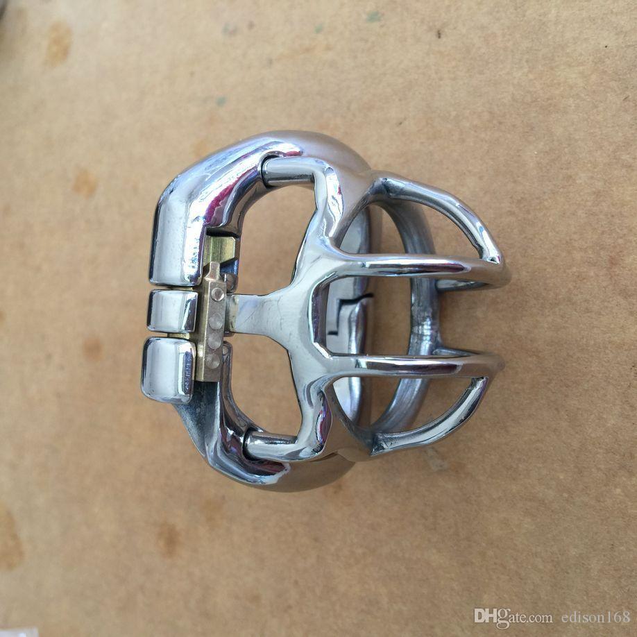 2017 Dispositivo Curve Anello elastico di disegno maschio Super Piccolo in acciaio inox di cazzo Cage anello del pene Castità cintura adulti BDSM Prodotti Sex Toy S052