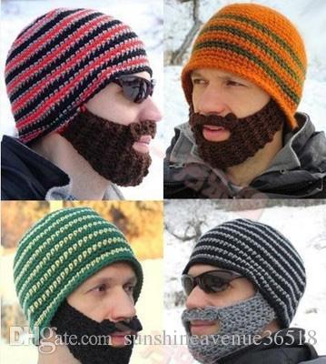2166b9989ed Hats Beanie Skull Caps Bearded Wool Knitted Hats Beard Knitted Hat Warmer  Ski Bike Skull Hat Unisex Men Beard Cap Christmas Hat Best Gifts Black  Beanie ...