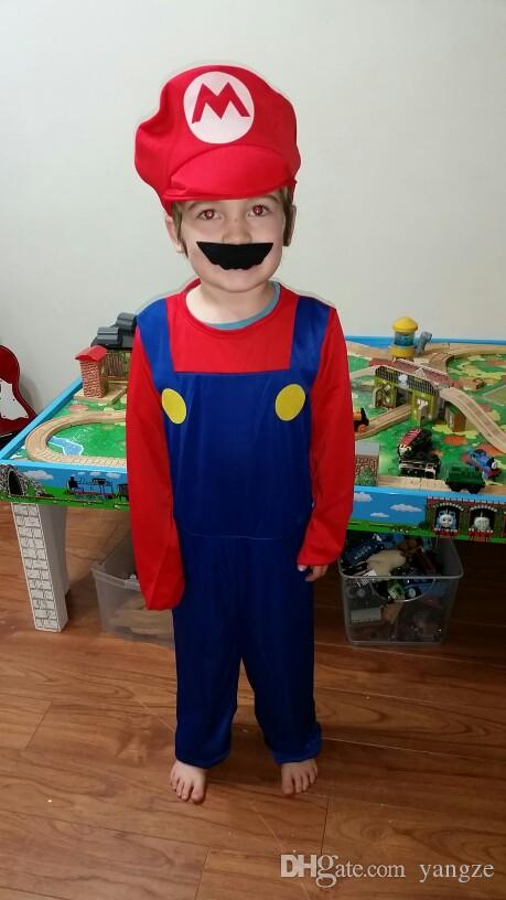 Funny Cosplay Halloween Costumes Super Mario Luigi Brothers Plus Size Plumber Boys Girlds Women Men Party Costume