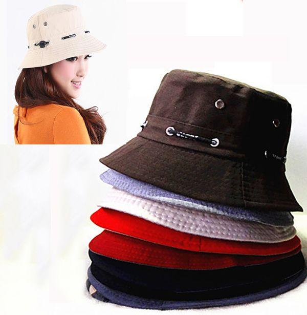 DHL Bucket Hat Boonie Flat Hunting Fishing Outdoor Beach Cap Women ... 02526706d9aa