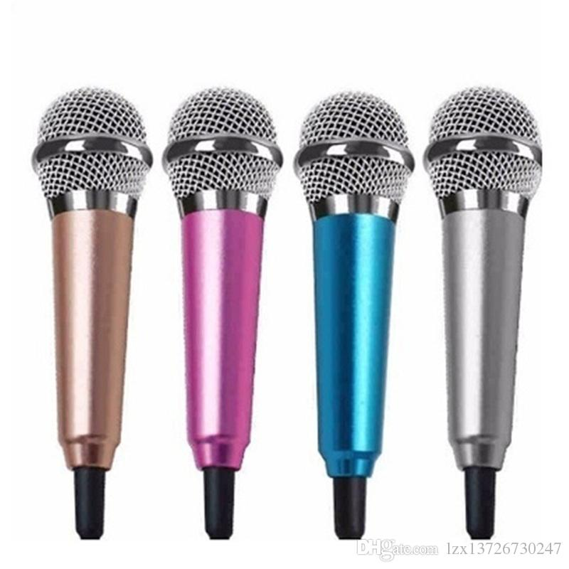 Mini Jack 3.5mm Estúdio Lavalier Microfone Profissional Microfone Micha para Computador de Telefone Celular para iPhone Samsung Karaoke