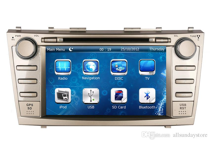 8 2din car dvd player gps navigation for toyota camry