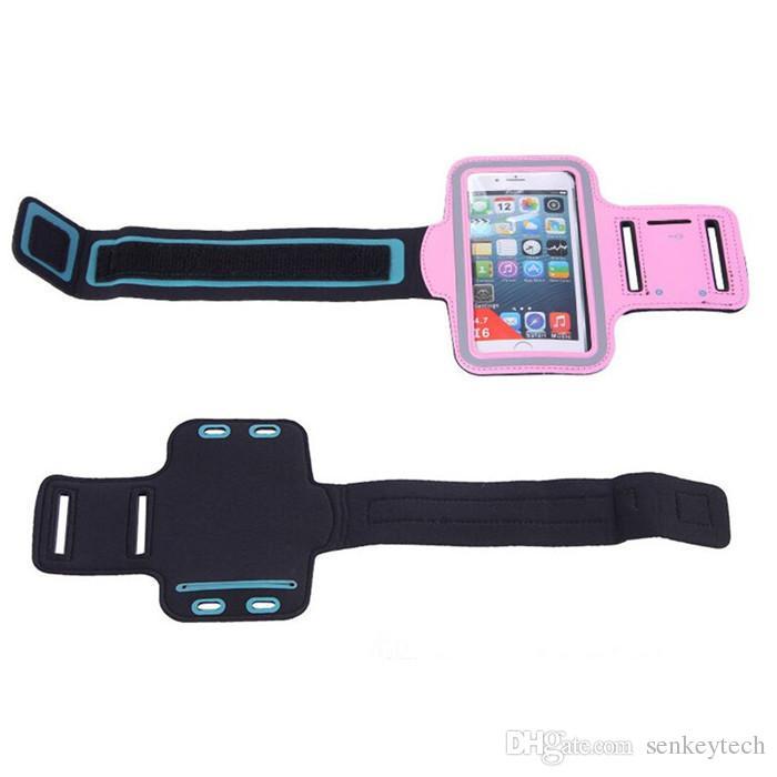Cubierta de la caja del teléfono de la bolsa del brazalete del brazalete del brazalete deportivo para deportes a prueba de agua + Soporte para llaves para iPhone4 / 5/6 / 6plus Samsung S3 / S4 / S5 / S6 NOTA4