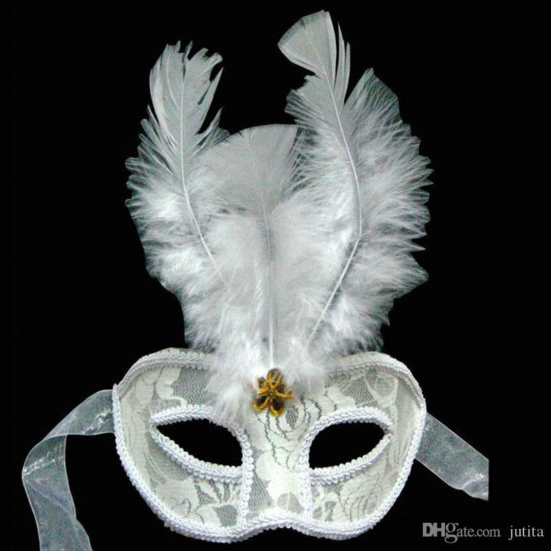 Charm Princess Mardi Gras Masquerade Mask Fantasy Feather Party Máscaras Bodas Damas