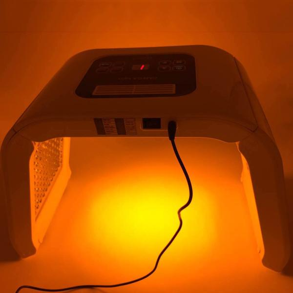Korea Portable OMEGA Light led pdt Therapy Red Blue Green Yellow Face body Light Phototherapy Lamp facials Machine facial rejuvenation
