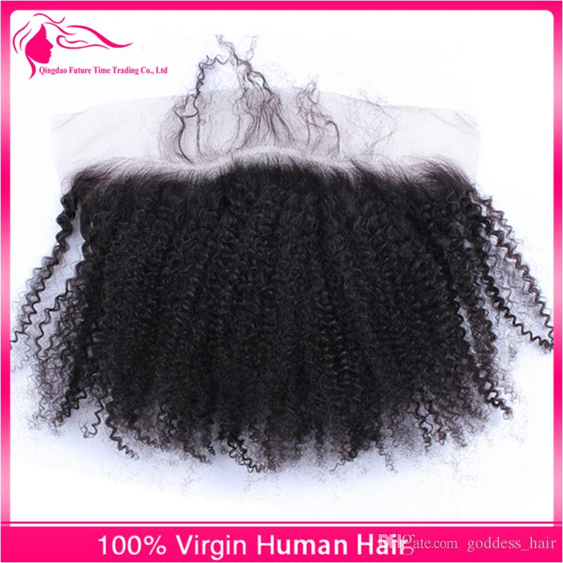 9A Afro Kinky Curly Hair Bundles With Lace Frontal Closure Free Middle Three Part Ear To Ear Lace Frontal With Bundles