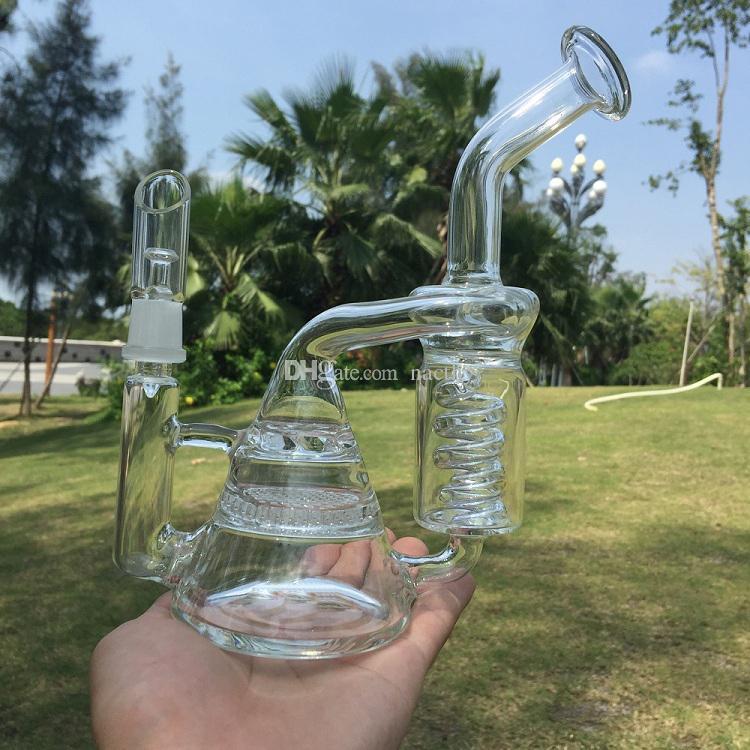 Kit de clou E Digital avec bang en verre 6 en 1 Quartz Hybird Titanium Nail fit D Bong recycleur en nid d'abeille pour clou numérique DHL Free