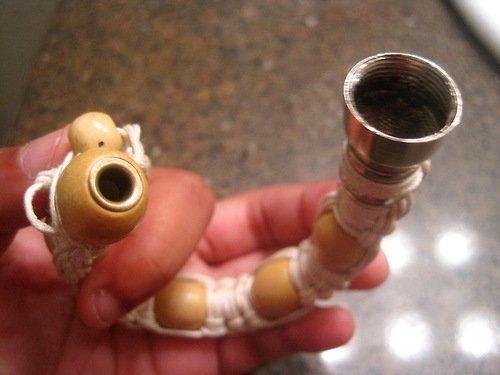 BRICOLAGE à la main de pipe de poignet de HiPPie superbe fait à la main de vaporisateur d'herbe pour le tabac Discreet Sneak un Toke Click n Vape