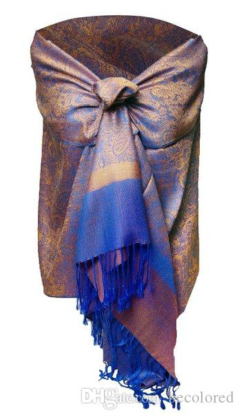 New Beautiful elegent lady's WARP women's stole paisleys LOTS COLORS 12pcs mixed colors order PASSED EU REACH STANDARD