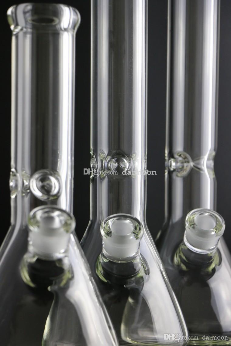 슈퍼 무거운 유리 물 파이프 9mm 두께 물 담뱃대 키 큰 12 ''14 ''18 ''두꺼운 비커 봉