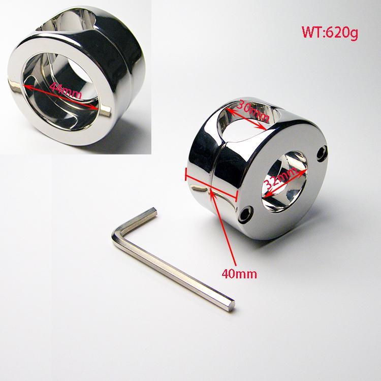 Bola de aço inoxidável Peso Scrotum Anel penis testículo galo Restraint dispositivo Produtos do sexo adulto 620g Bola Maca 2015 NOVO