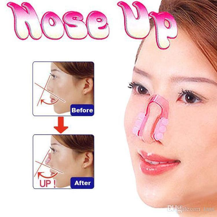 Nose Lifting Clip Silicon Gel Beauty Nose Shaper For Nose Massage With Pink Color