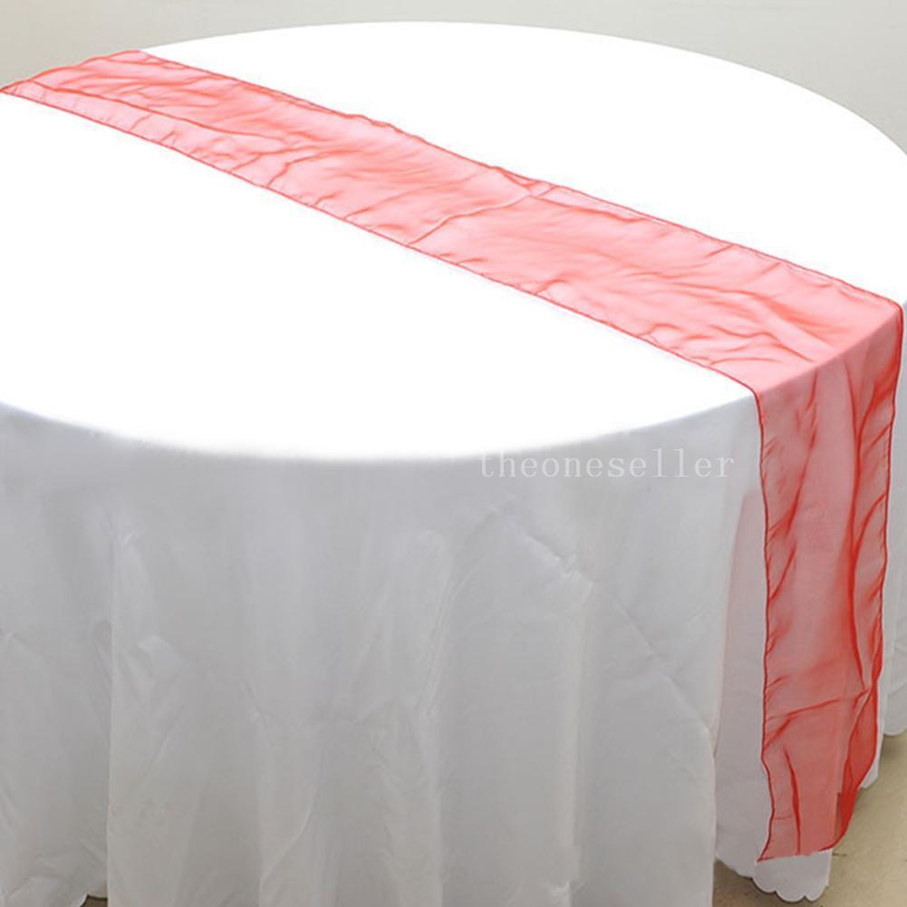 Runner da tavolo in organza grigio argento 12