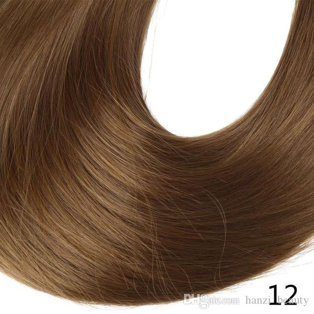 """22"""" Long Straight Full Head Clip in Hair Extensions Synthetic Hairpieces Heat Resistant Fiber"""