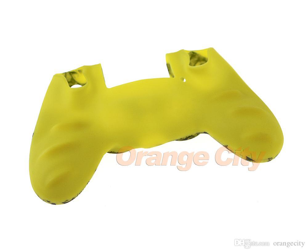 Dauerhafte Camouflage-Silikon-Gel-Gummi-weicher Hülsen-Haut-Griff-Abdeckungs-Fall für Playstation 4 PS4 Pro PS4 dünnes Gamepad schützen