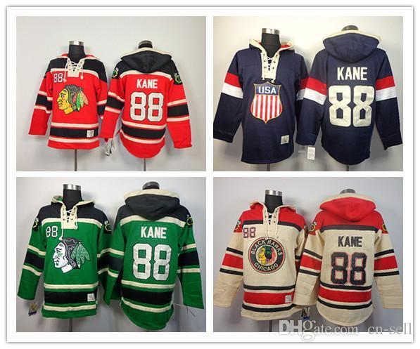 ... 2017 New Red Chicago Blackhawks 88 Patrick Kane Hoodies Sweatshirts  Green Hockey Olympic Patrick Kane Usa ... 55ad905dd