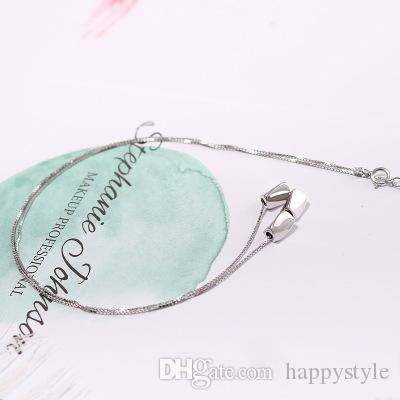 S925 Sterling Silver Necklace Jewelry Women's Love jequirity Necklace Korea Clavicle jequirity Necklace 10
