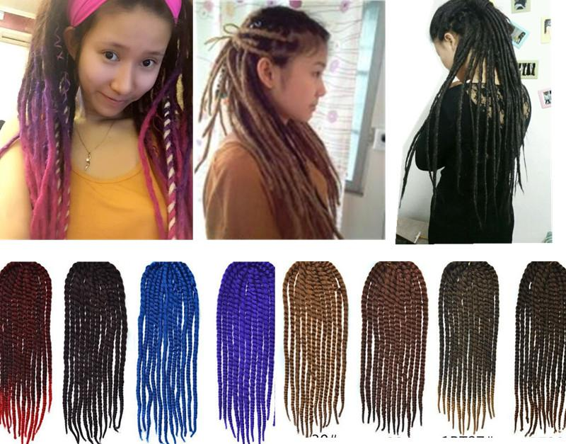 24african Braids Crochet Twist Hair Gradientcolorful Long Hair
