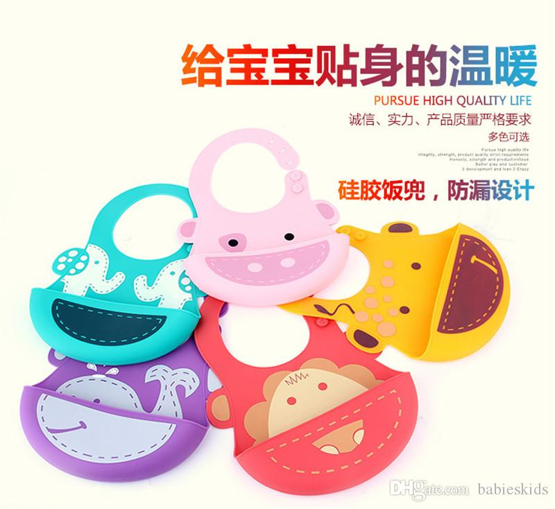 Bibs Burp Tools Baby Feeding Soft Silicone Baby Bibs Waterproof Bibs with Food Catcher Pocket For Girls & Boys Easily Wipes Clean and Dries