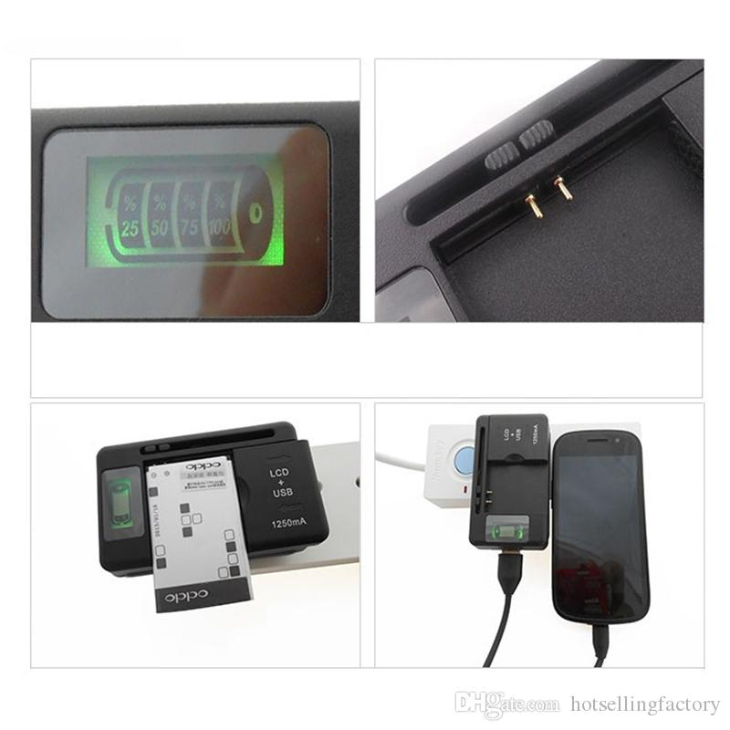 LCD Battery Charger Li-ion USB AC Phone Adapter Wall Dock Travel Charger For Samsung S3 S4 S5 Note 3 4 Nokia Huawei Motorola Cellphone