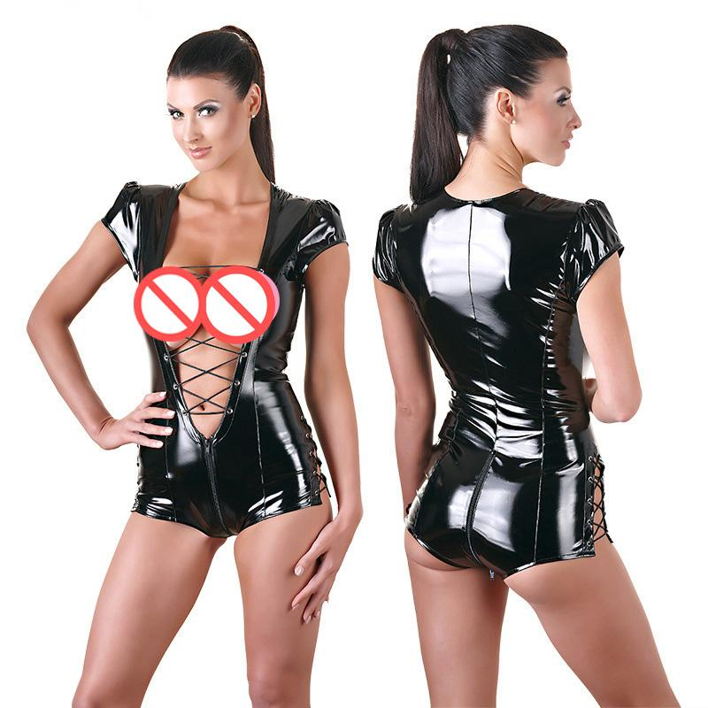 Sexy leather outfit sex variant does