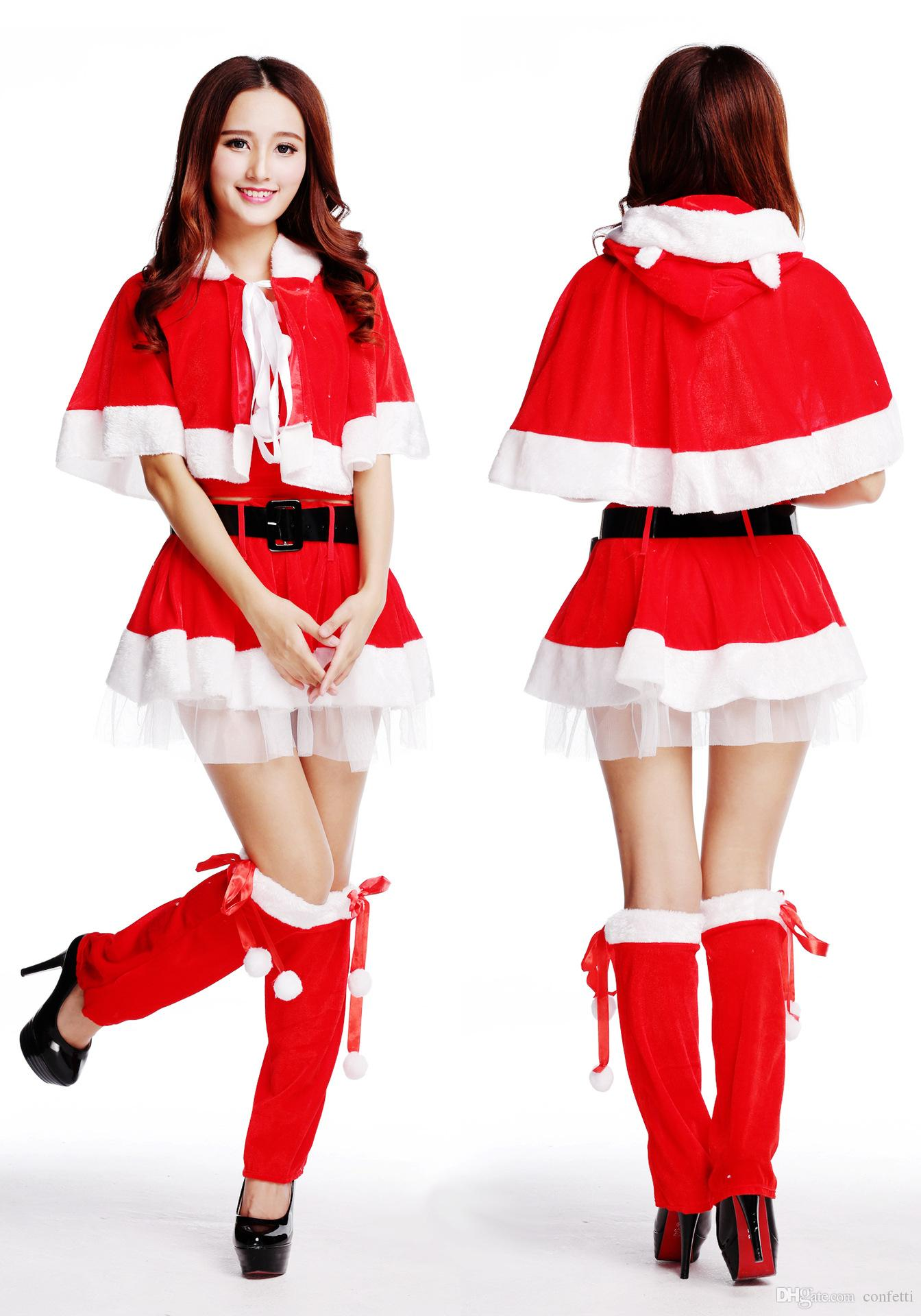 New arrival santa claus women dress tunic christmas sexy