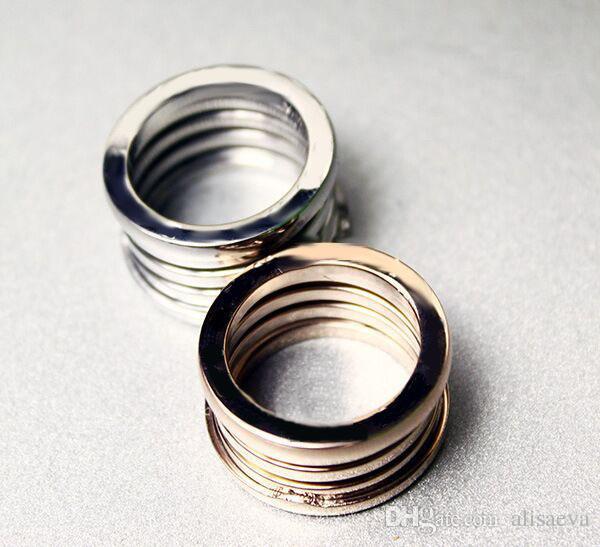Herrliche 100% Eleastic Marke Strass Hochzeit Ringe gemeinsame Marke Frauen Vintage-Schmuck für die Fährverbindung 18 Karat Roségold-Ring
