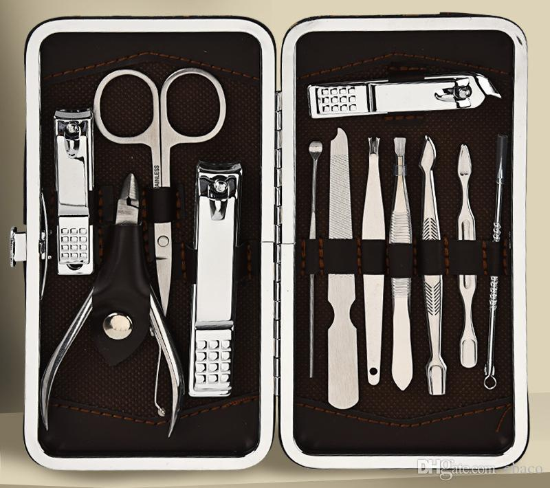 Stainless Pedicure Kit Scissor Tweezer Knife Nail Clipper Nail ...