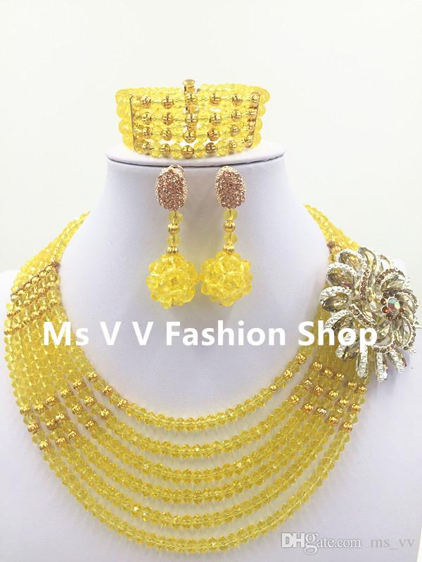 silver jewelry set green gold new model match aso ebi design dubai gold plated 6 layers handmade jewelry necklace set G01