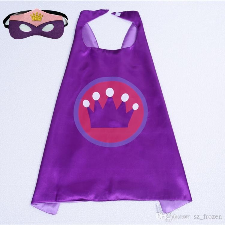 Newest 101 Designs Double Side Cape 70*70cm Cartoon Cape with Mask for Kids Christmas Halloween Cosplay Cape Stage Performance