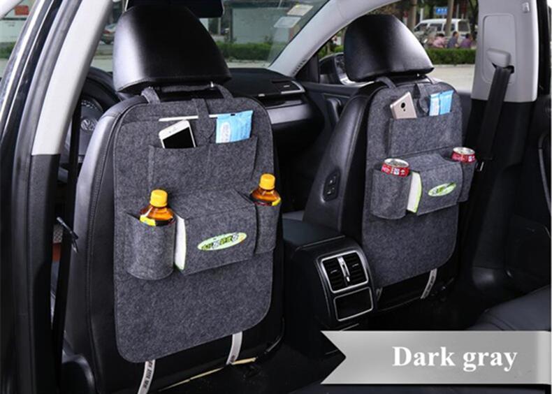 7 ألوان جديدة السيارات مقعد السيارة المنظم حامل متعدد جيب السفر حقيبة التخزين شماعات الخلفية المربع