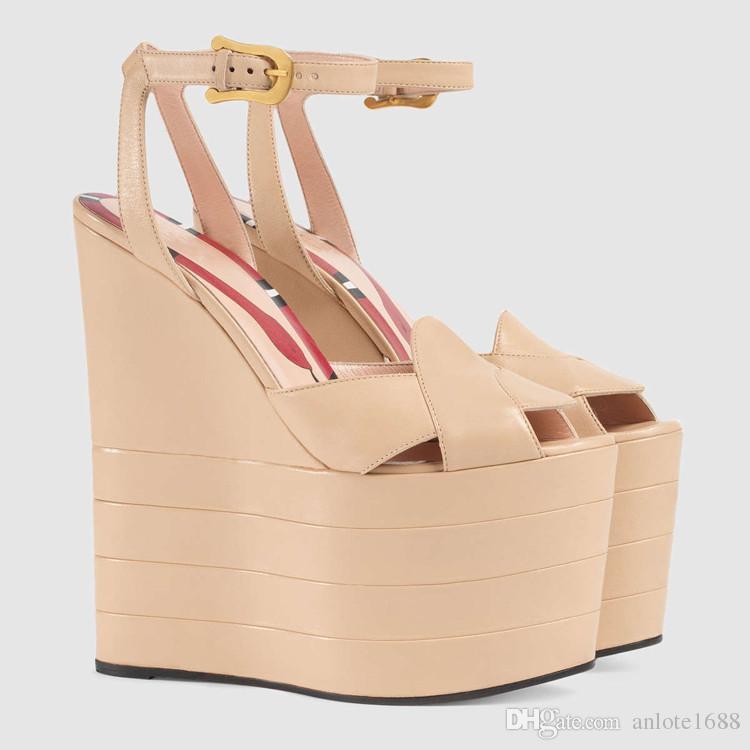 Sandali gladiatore con plateau in pelle estiva T-strap con tacchi alti Sandali con stampa serpente metallizzata Scarpe eleganti con espadrillas