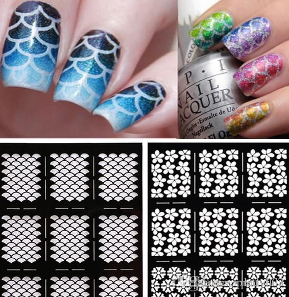 Nail Art Stencils 20 Patterns Template Stickers Stencil Nail ...