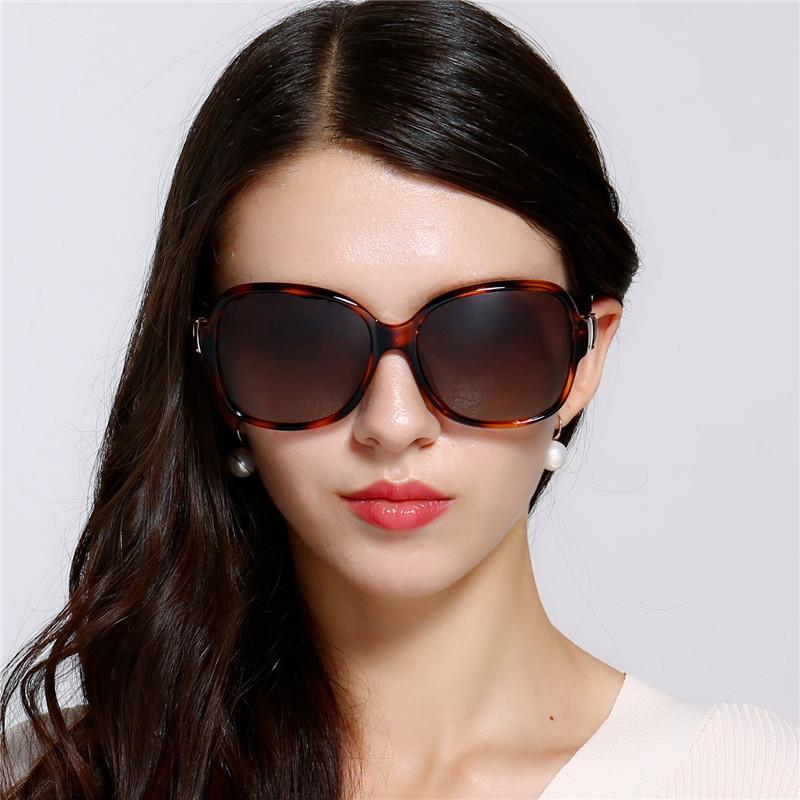 High-Quality Polarized Designer Sunglasses For Women Retro Large Metal Frame Luxury Sunglasses Brand Driving Mirror Sun Glasses Womens Glass