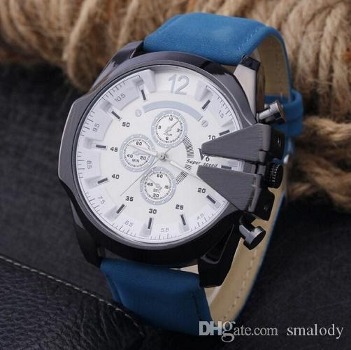 Fashion Military Sport V6 Wrist Watches Leather Strap Quartz Watch