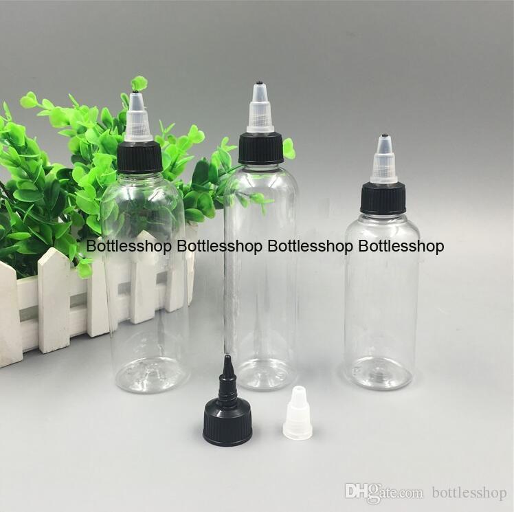Newest Twist cap PET Dropper Bottles 120ml 4oz Plastic ink bottle Ejuice Empty Bottles Wholesale For Glue