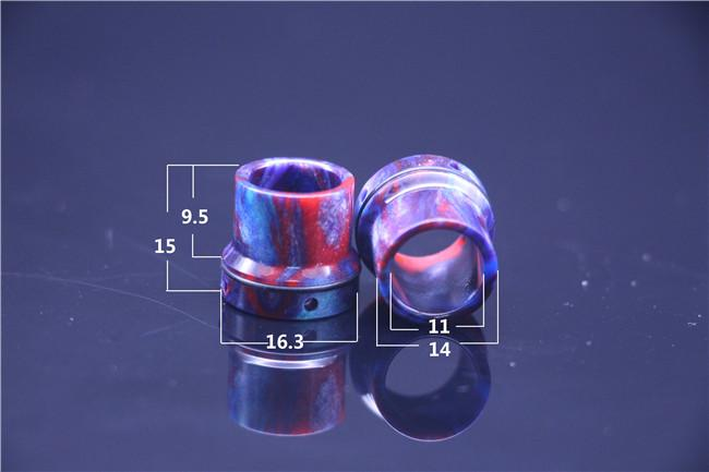 4 Styles TFV8 Coilart Mage RTA Mini Buddha Roughneck Epoxy Resin Drip Tip Colorful Wide Bore Drip Tips 510 Mouthpiece for RDA Atomizer