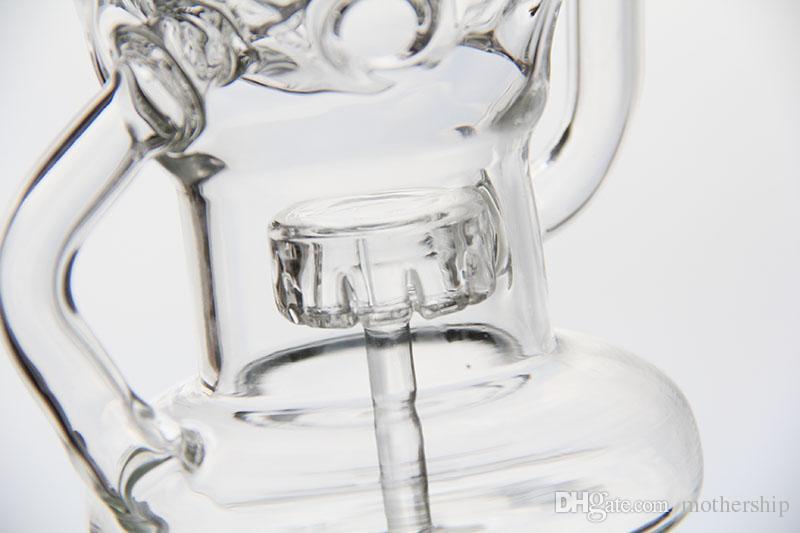 conduites d'eau en verre bongs qcb quartz banger clou, bangs en verre avec engrenage perc 14mm tuyaux bong recycleur plates-formes pétrolières percolateur barboteur