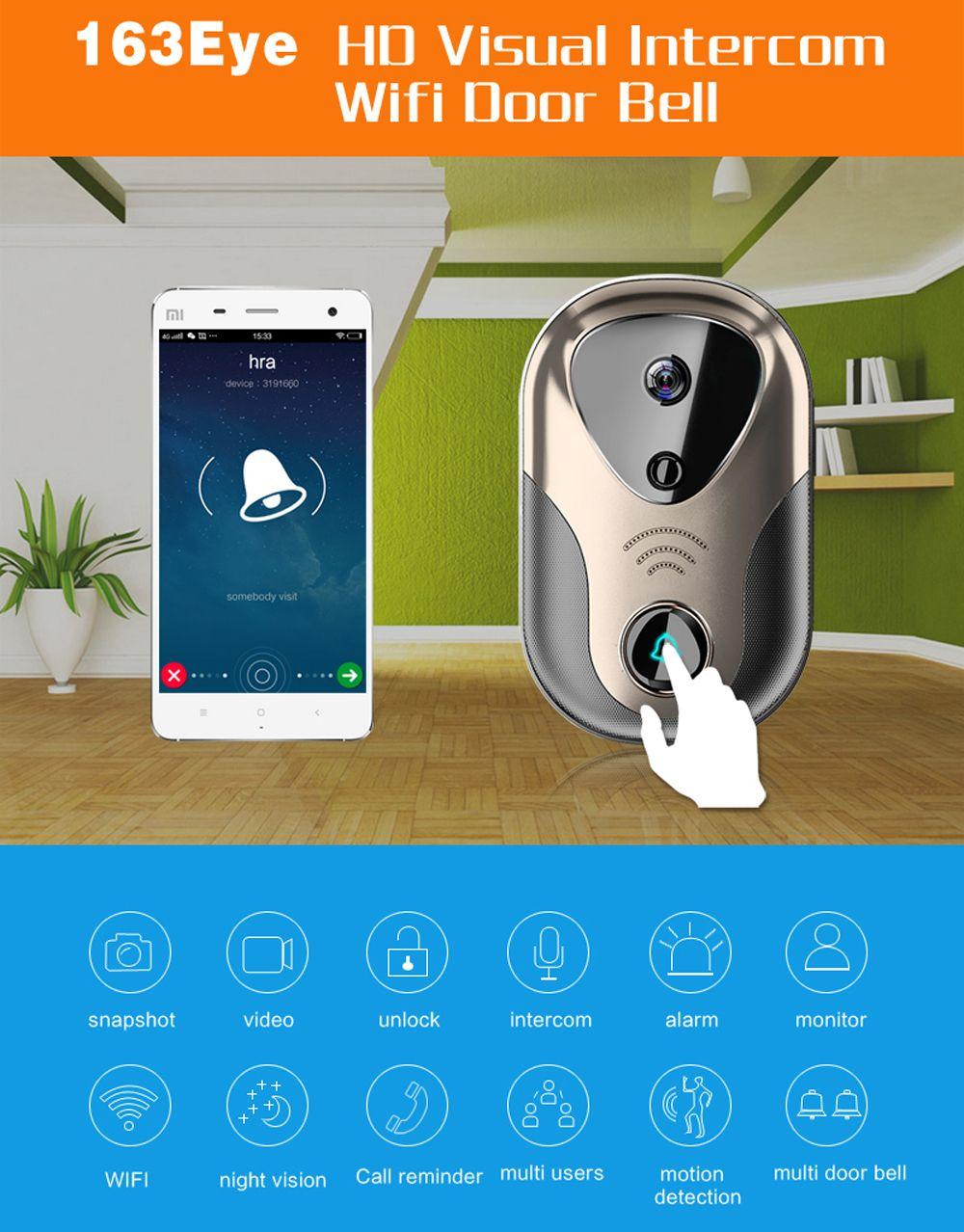 Video Door Intercom Wifi Ip Camera System Support 433 Series