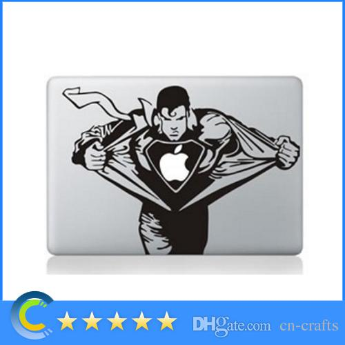 Laptop stickers superman personality vinyl decals for new macbook 12 retina macbook air pro retina 11 13 15 inch stickers laptop skin sticker laptop skin