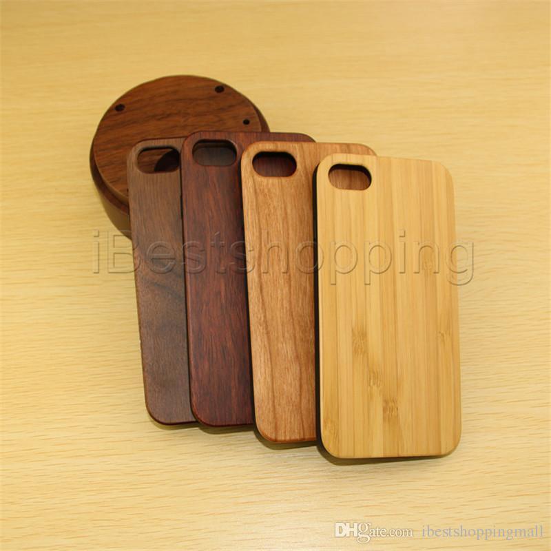 Real Wood Con TPU bordo del telefono di Shell l'iPhone 11 Pro Max XS X Xr Xs Max 8 6 7 Plus Samsung S10 S20 S20 S0E Ultra Plus la copertura di legno reale