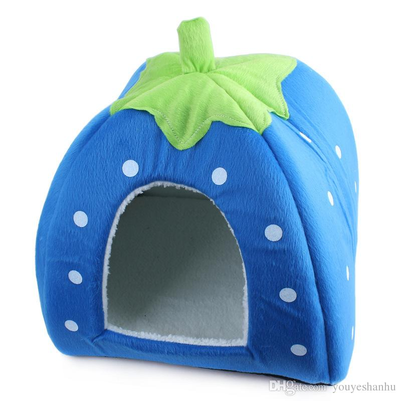 Fun Pet Strawberry Dog House Yurt Kennel