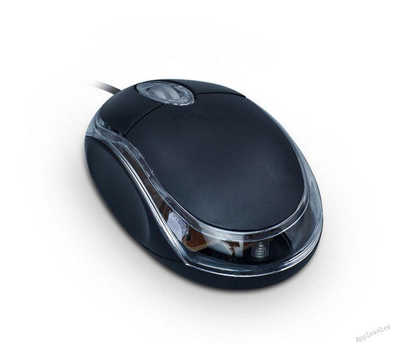 Eclairage optique-électronique Souris Mini-USB filaire Ordinateur portable Petite souris Jeu de souris de bureau