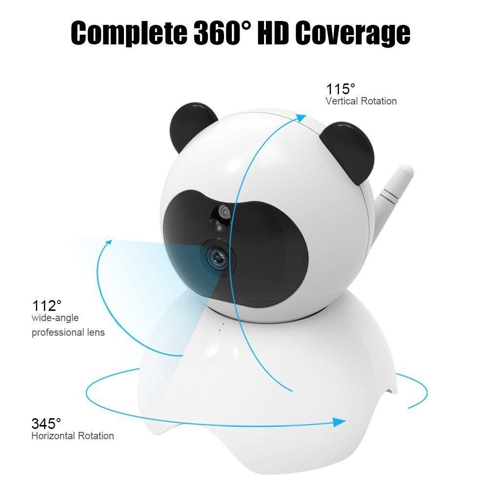 كاميرا IP لاسلكية للحماية - تشمل الرؤية الليلية والصوت في اتجاهين ، وكاميرا Wifi بدقة 720 بكسل عالية الدقة مع تنبيهات كشف الحركة / الميل
