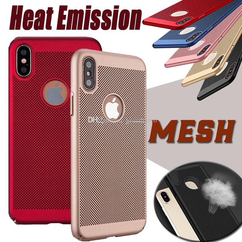 Matte Hard Plastic Heat Emission Dissipation Mesh Net Grid Hollow Out Full Coverage Cover Case For iPhone 11 Pro Max XS XR X 8 7 6 6S Plus