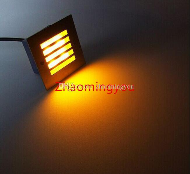 Square step path lights 4W 400lm AC 85-265V ulter bright high power led fixtures aluminum waterproof outdoor led light lamp